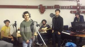 Musikaufnahmen im Studio des Integrationshaus